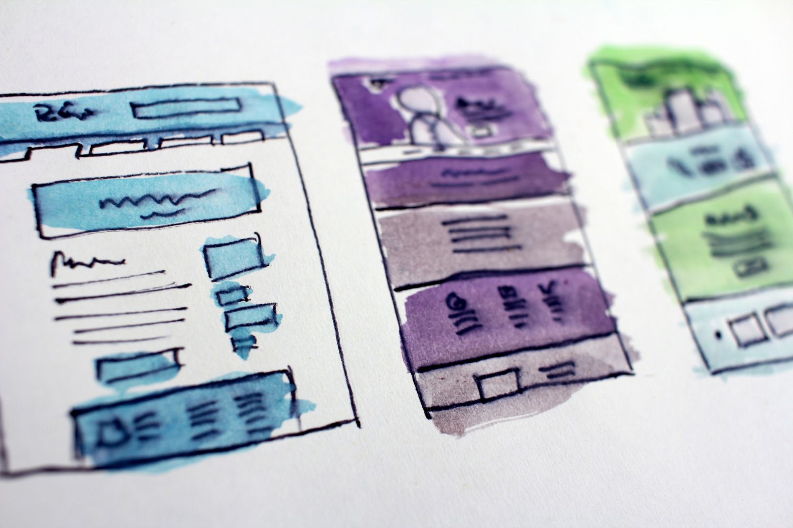 Website layout design concepts
